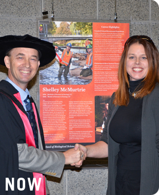 Presentation of award; photo University of Canterbury.