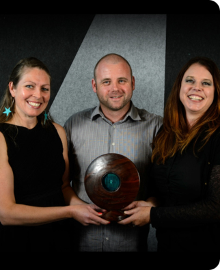EOS Ecology with their NZ River Story award